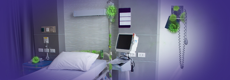 Slowing Room-to-Room Spread Disinfecting Shared Equipment in Healthcare Settings